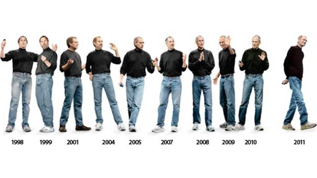 steve jobs e suas roupas iguais