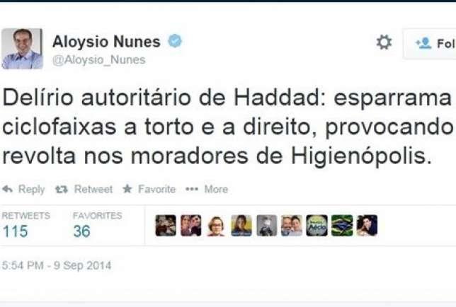 Twitter Aloysio Nunes