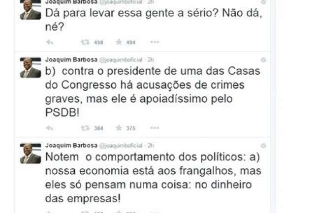 Joaquim Barbosa - Twitter