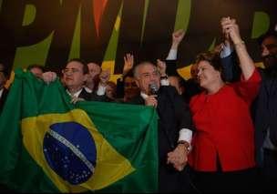 Renan Calheiros, Michel Temer e Dilma Rousseff