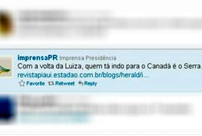 Twitter - Imprensa República