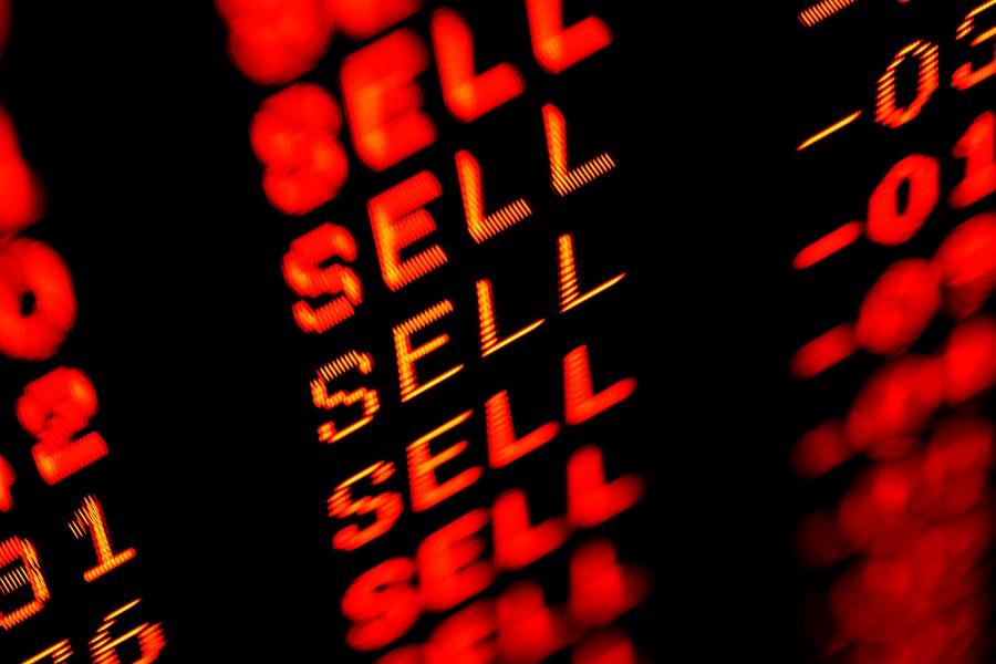 Painel de vendas de ações