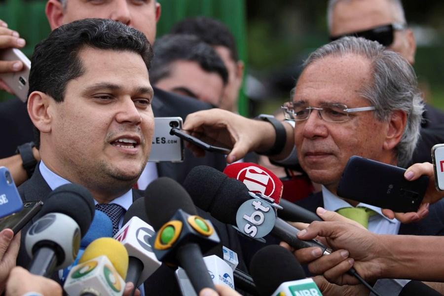 Davi Alcolumbre e Paulo Guedes