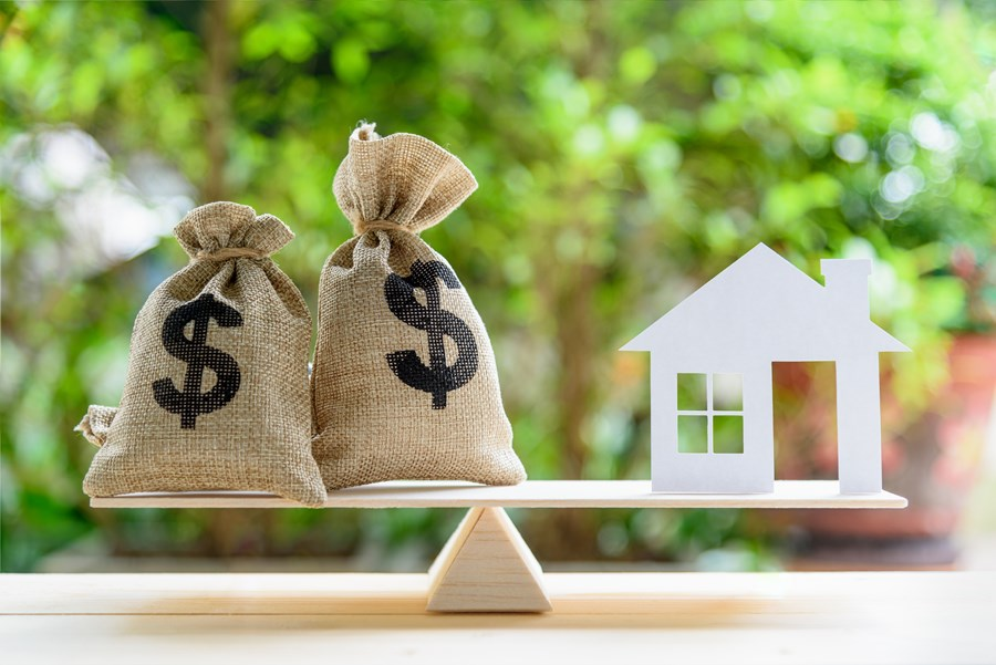 Representação de preço para imóveis; vender ou alugar
