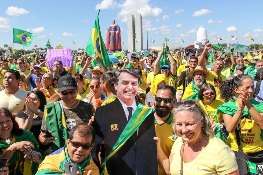 Manifestação pró-Bolsonaro Brasília