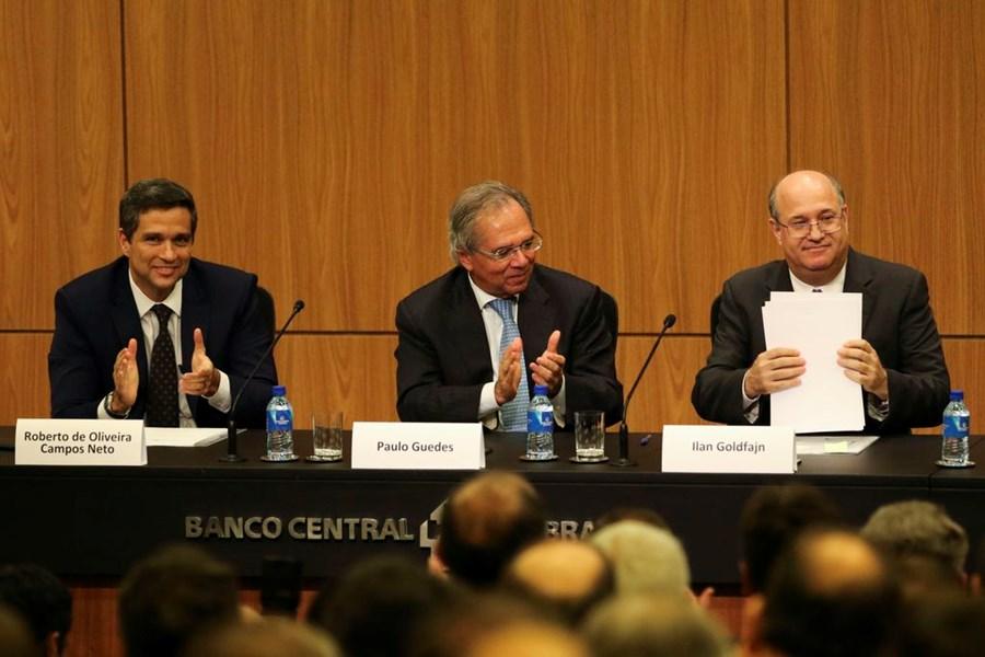 Roberto Campos Neto, Paulo Guedes e Ilan Goldfajn