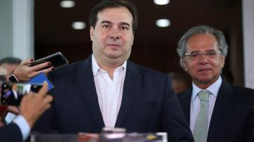 Rodrigo Maia e Paulo Guedes