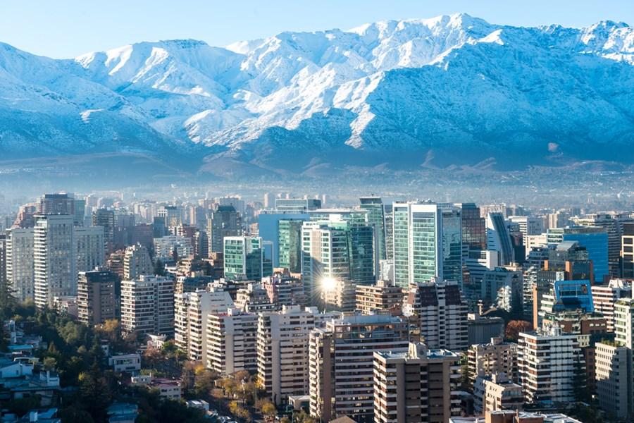 Cidade de Santiago, no Chile
