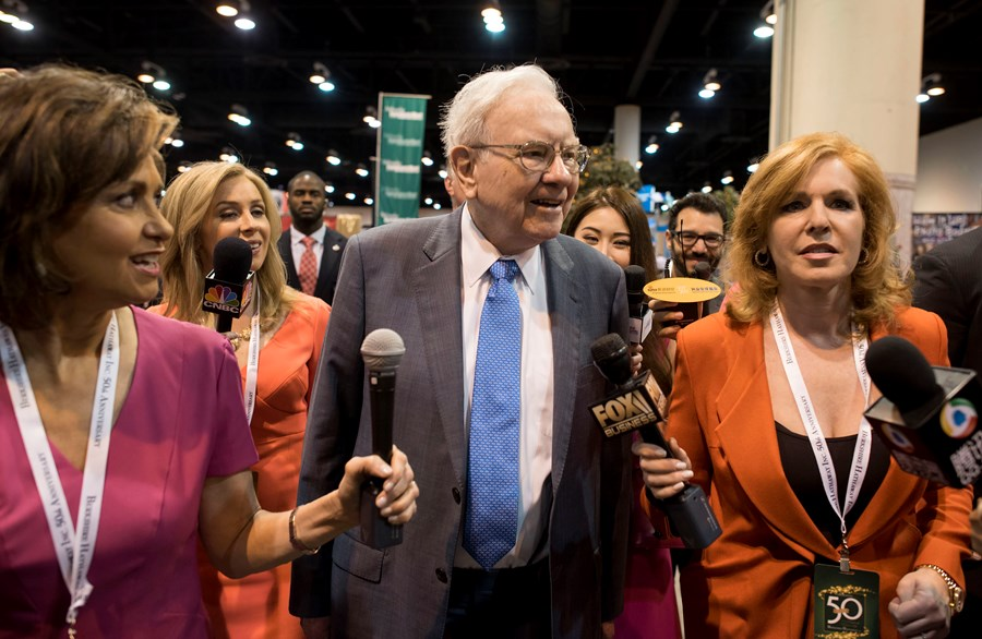 Warren Buffet na tradicional conferência em Omaha