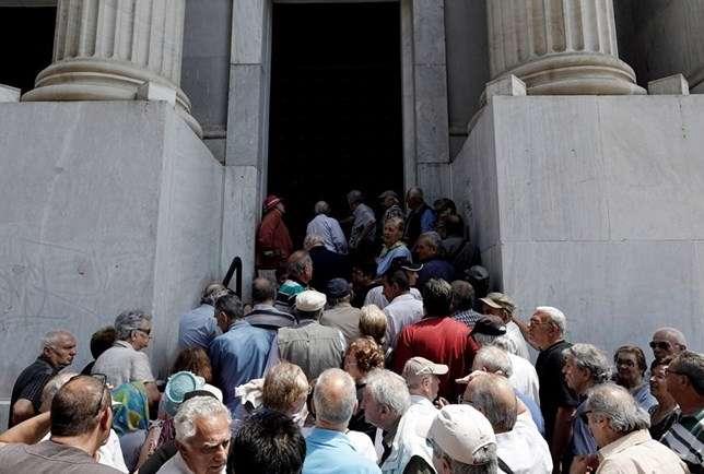 Pensionistas na Grécia