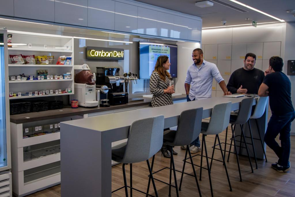 Espaço de café no C6 Bank