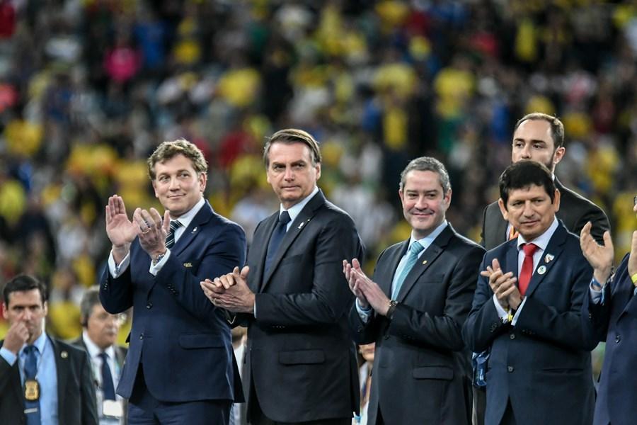 Jair Bolsonaro na Copa América
