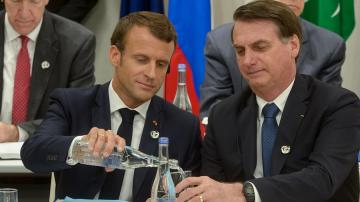 Jair Bolsonaro e Emmanuel Macron