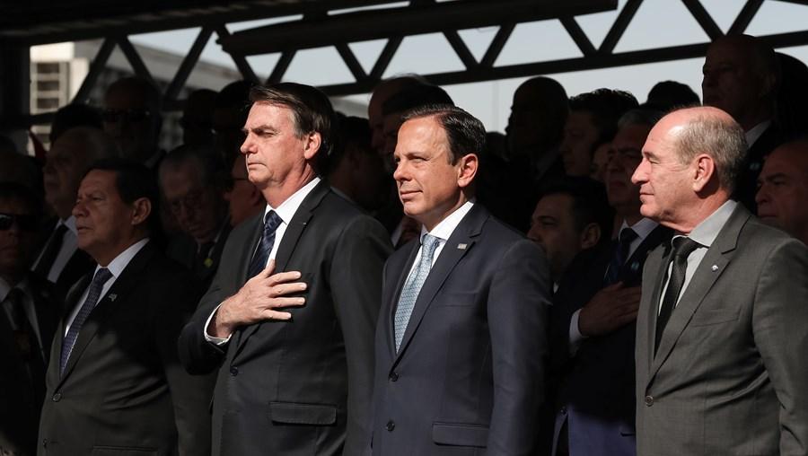 Hamilton Mourão, Jair Bolsonaro e João Dória