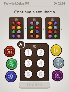 Exemplos de games da Nestlé em aplicativos