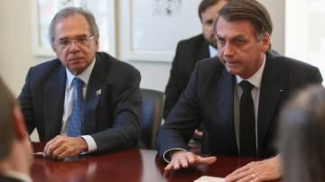 Jaie Bolsonaro e Paulo Guedes
