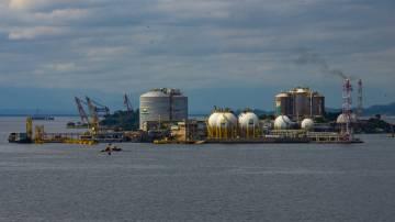 Terminal de gás da Ilha Redonda, da Petrobras, no Rio de Janeiro