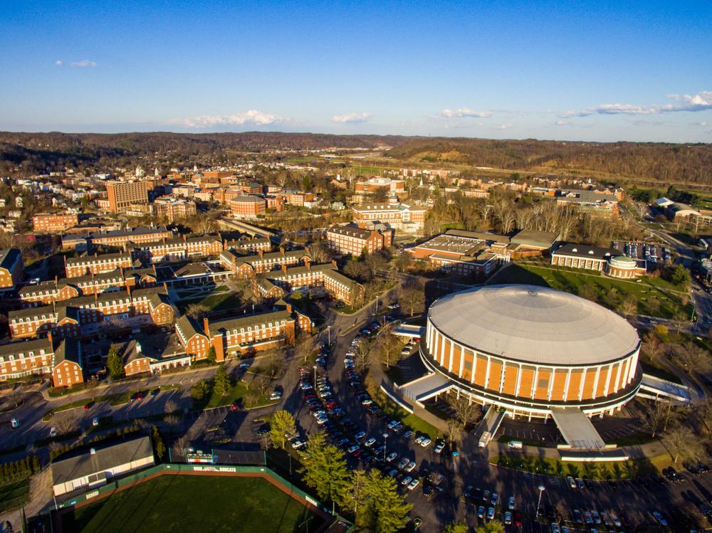 Foto do campus da Universidade de Ohio nos EUA
