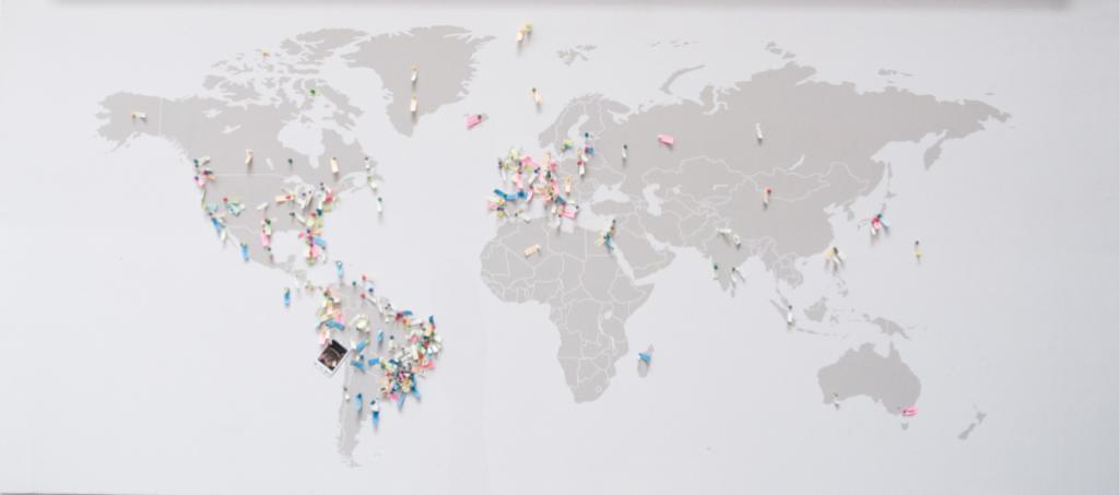 Mapa das nacionalidades