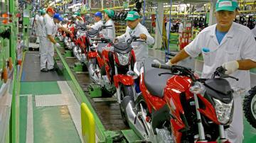 Fábrica de motos da Honda em Manaus