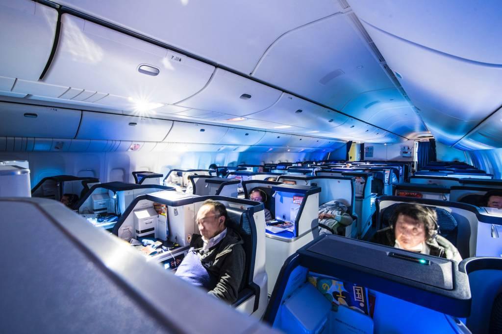 assentos de classe executiva da All Nippon Airways