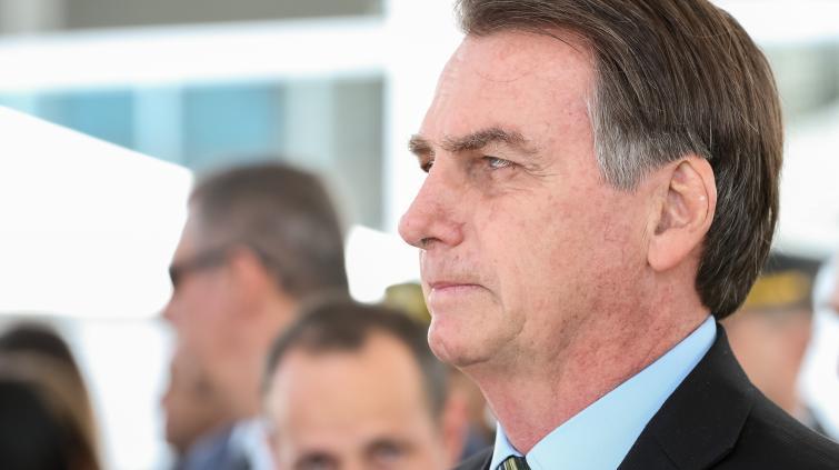 Foto do presidente Jair Bolsonaro de perfil