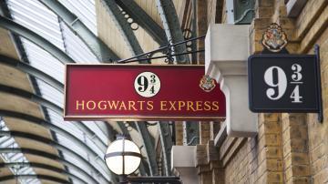 Placa 9 3/4 do Hogwarts Express