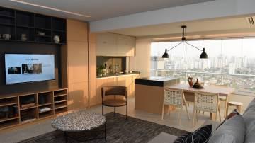 Sala de apartamento decorado da JFL