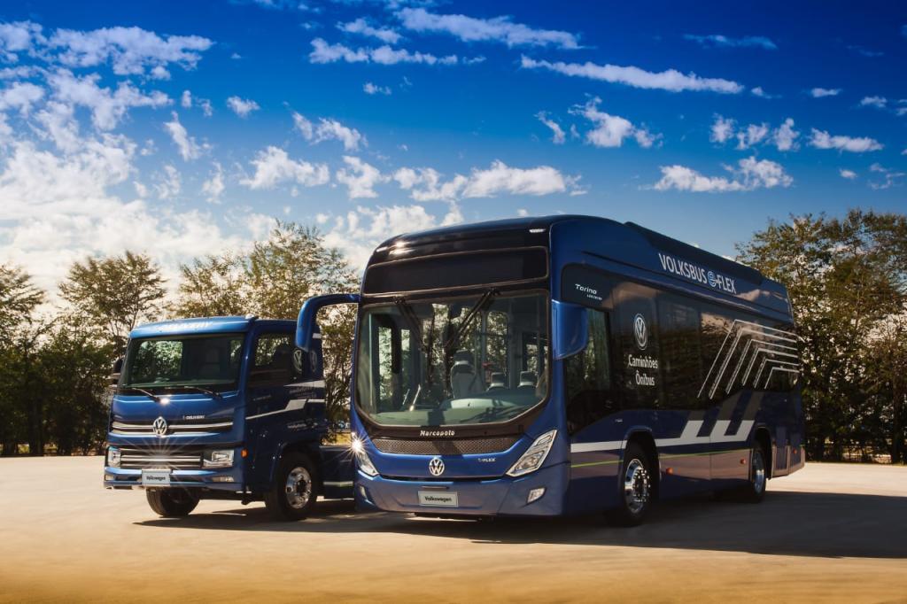 Ônibus e caminhão elétricos da Volkswagen