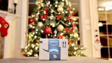 Entrega de presente de Natal da Amazon