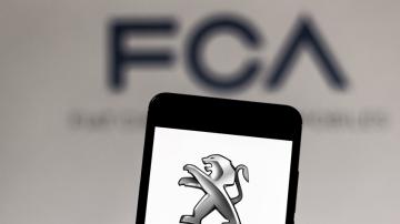 Logo da Fiat Chrysler e Peugeot-Citroën