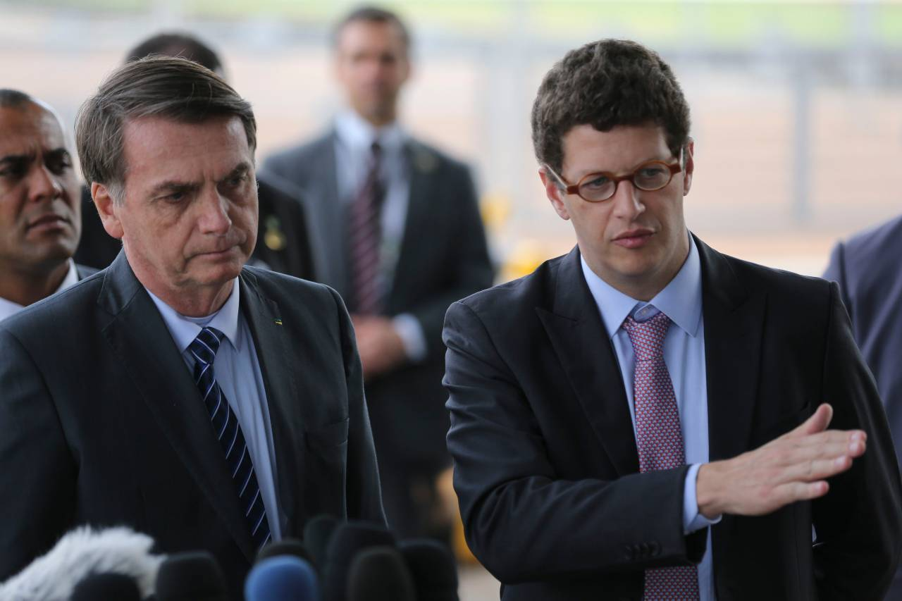 Jair Bolsonaro e Ricardo Salles