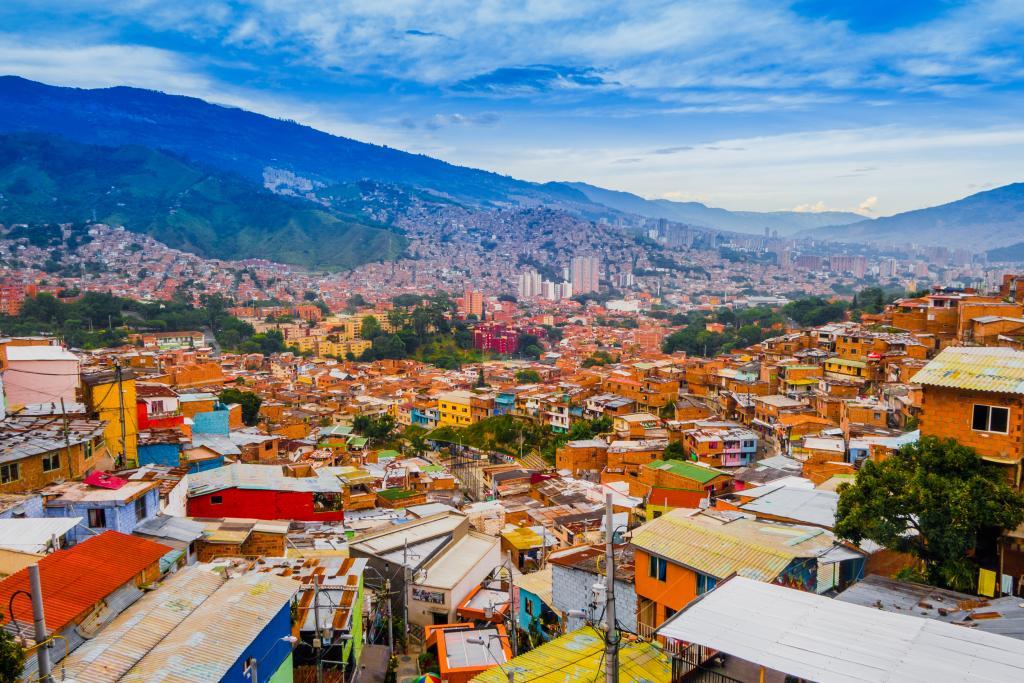 Vista do horizonte de Medelin, Colômbia