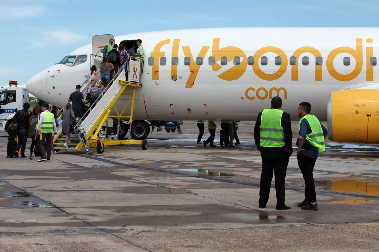 Avião da aérea low cost argentina Flybondi
