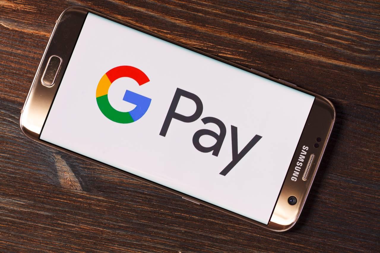 Aplicativo Google Pay em um smartphone