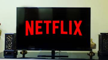TV com o logo da Netflix