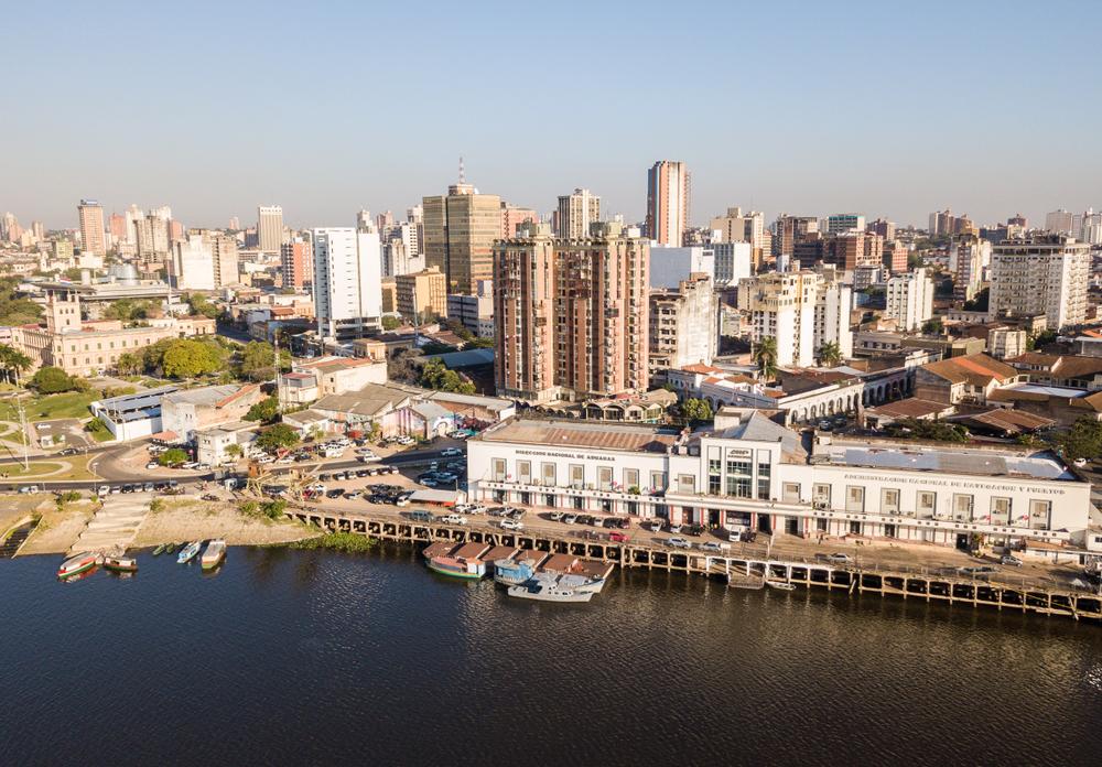 Vista panorâmica de Assunção no Paraguai