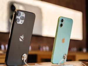 Modelos do iPhone 11 em exposi??o