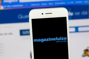 Tela de celular com Magazine Luiza