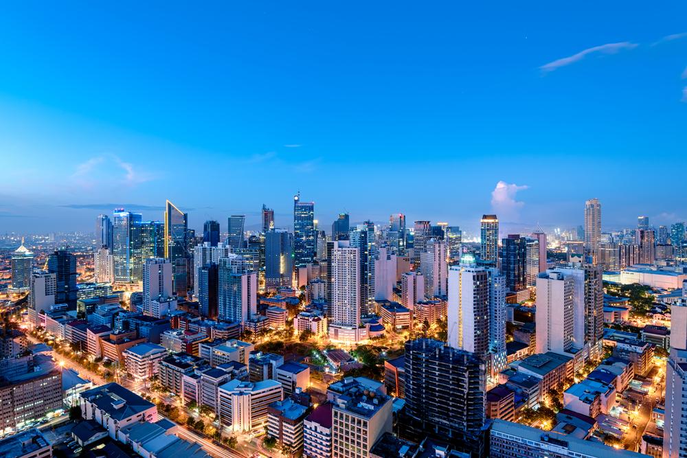 Manila, capital das Filipinas, vista de cima
