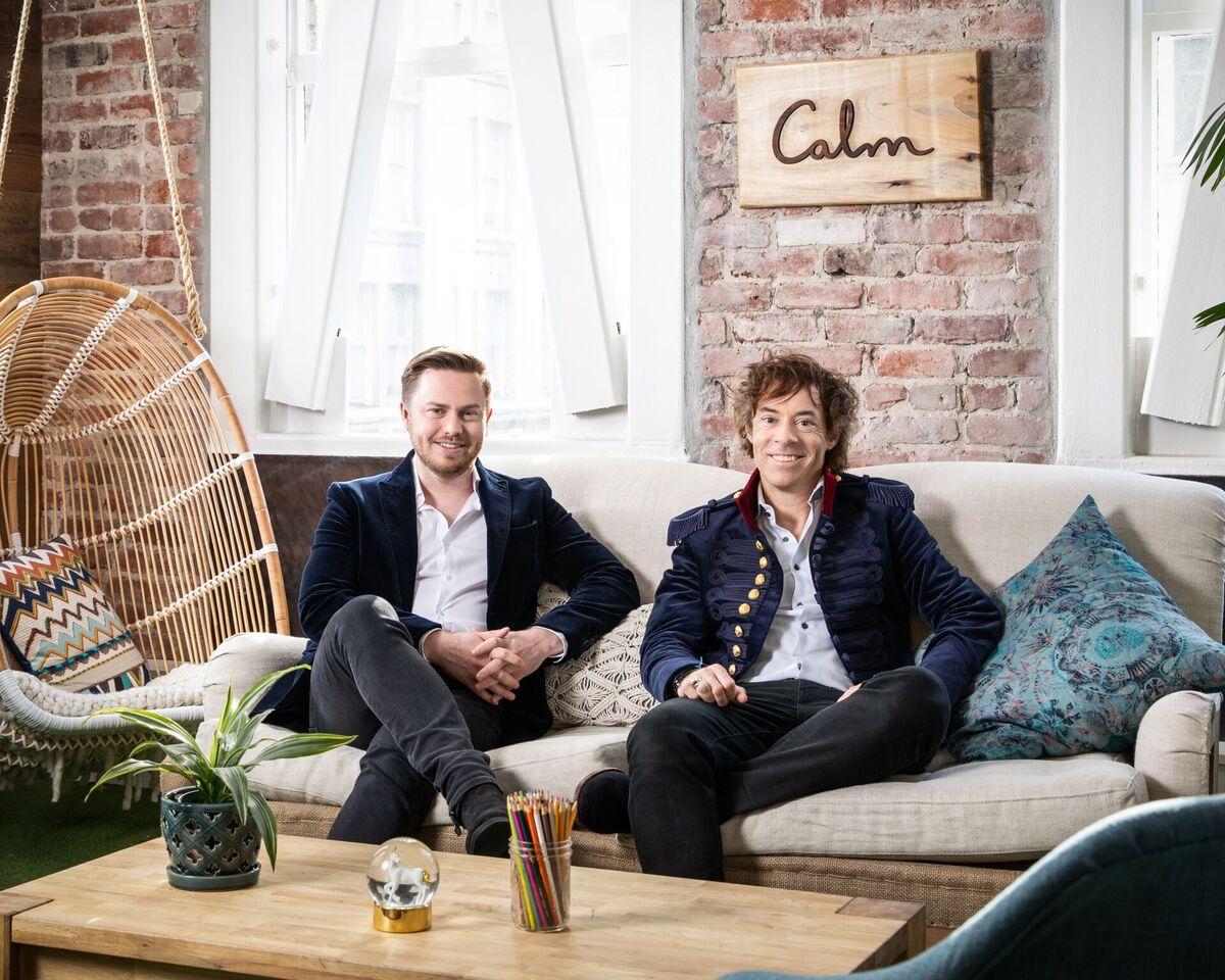 Alex Tew e Michael Acton Smith: fundadores do app Calm