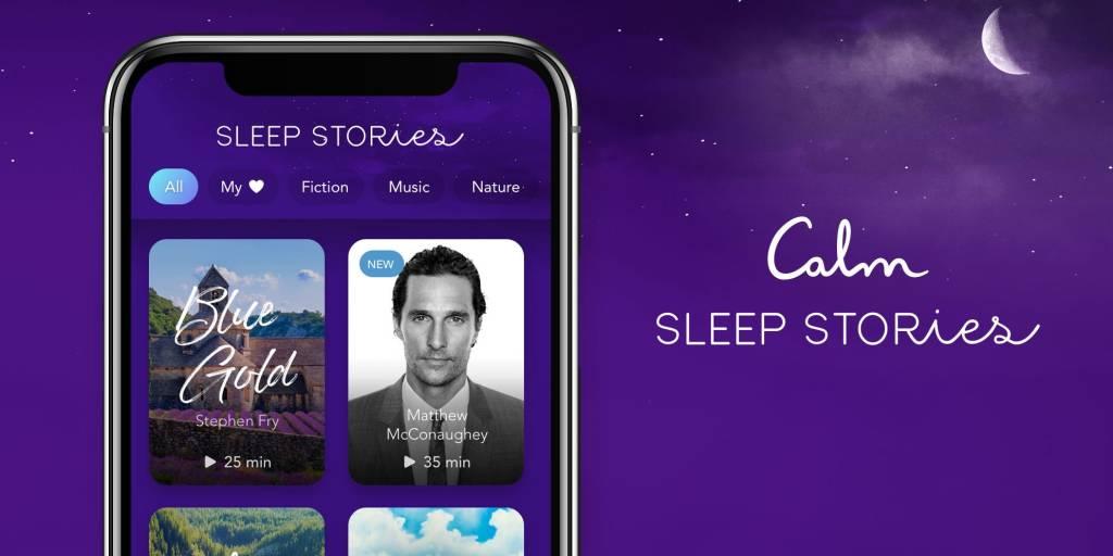 As histórias para dormir da Calm, com a versão narrada por Metthew McConaughey em destaque