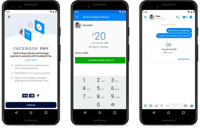 Utilidades do Facebook Pay