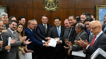 Jair Bolsonaro, Onyx Lorenzoni, Davi Alcolumbre