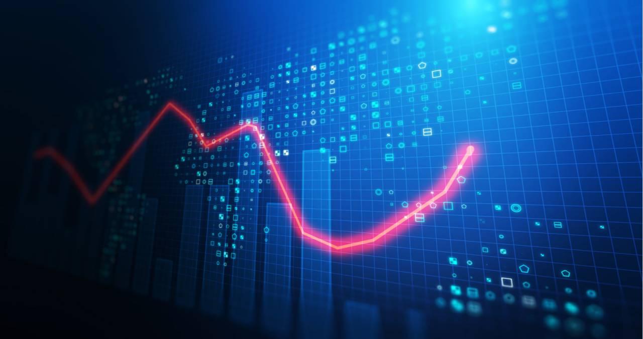 ações bolsa gráfico índices mercado trader stocks alta