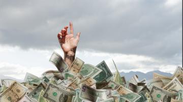 Dívida de milionário dólares dinheiro notas dólar