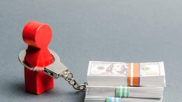 Devedor dinheiro dívida algema