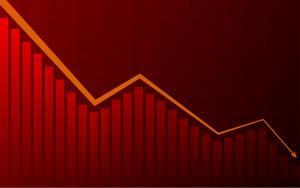 ações bolsa gráfico índices mercado queda baixa