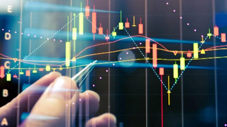 ações bolsa gráfico índice mercado