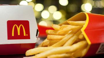 Batata frita e lanche do McDonald's
